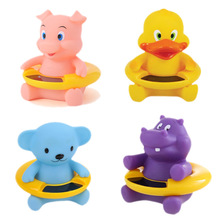 2016 New Design Water Thermometers Cute Cartoon Bath toys Water Thermometers with Temperature measurement Duck Pig Bear Hippo(China)