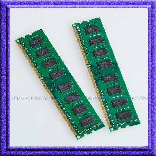 Full Test !! 4GB 2x2GB PC3-10600 DDR3-1333 DDR3 1333MHZ 240pin Desktop Memory 2gb ddr3_1333mhz  240PIN RAM memory  Free shipping<br>