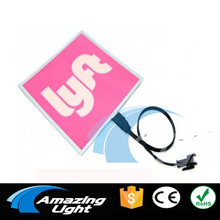 LYFT 10*10cm lyft EL backlight el car sticker el paper with DC3V 2pcs AA battery Inverter(China)
