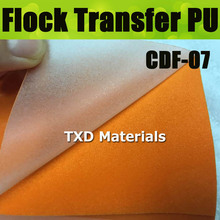 CDF-07 Orange Premium quality 1 yards Flocking Heat Transfer Vinyl Cutting Plotter DIY T-shirts 50CM Widthx100CM Length