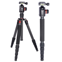 AOKA KT255C carbon fiber tripod professional systematic travelling hiking camera stand with tripod head kk33(China)
