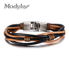 2016 New Fashion Braided Leather Bracelet Punk Jewelry Cuff Women/Men`s Casual Jewelry