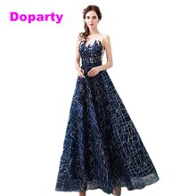 Navy Blue Applique Sequins Tulle Beading Sleeves Long Formal Mother Of the  Bride Evening Party Dresses For Elegant Women 2018 65b8b7a0c6d7