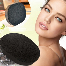 1PC Natural Exfoliator Cleansing Sponge Bamboo charcoal Facial Puff Face Cleanse Washing Sponge Y2-5