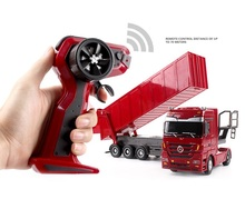 RC truck 1:32 Remote control Super truck with LED light 2.4G fancy toy rc dump truck toy for kids gift(China)
