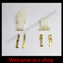 30 sets 2.8mm 2 Way/pin automotive female and male conectors terminals Male Female plug for Motorcycle Free shipping(China)