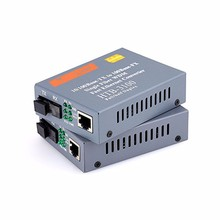 1 Pair Fiber Optical Media Converter HTB-3100AB 100Mbps Single Mode Single Fiber Transceiver SC Port 25KM External Power Supply(China)