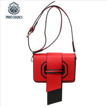 2017 Top Promotion Inho Chancy! Leather The Same Package Women Famous Brands Wild Ladies Hit Color Small Square Bag Messenger