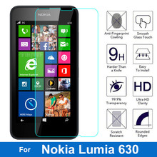 0.26MM 2.5D Ultrathin Premium Tempered Glass Film For Nokia Lumia 630 635 636 638 Dual Sim N630 Screen Protector Protective Film