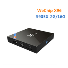 Buy Original WeChip Android 7.1 X96 TV Box Amlogic S905X Quad Core 2G 16G Wifi HDMI 2.0A 4K*2K Kodi16.1 Marshmallow Media Player for $42.99 in AliExpress store