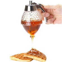 Honey dispenser 1 piece Extrusion Design Drain honey pots cooking tool free shipping Q-437