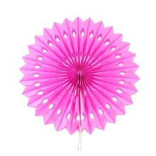 "6pcs 12""(30cm)Pink Paper Folding  Fan For Birthday Party Decoration Wedding Scene Exhibition Decoration DIY"