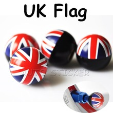 4pcs/ Set Car Round Valve Cap Covers Ball Motorcycle Air Stem Ball Tyre Tire Caps Cover For England British UK union Jack Flag