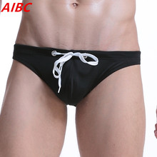 Brand Men Swimwear sexy briefs Swimsuits Swimming Trunks Gay Pouch Beach Summer Surf Board Wear Men Swimming Brief bikini(China)