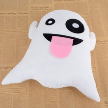 Mayitr New Cute Soft Smiley Ghost Emoji Plush Pillow Cushion Car Decor Pillow Cushion Pad Home Decoration Funny Gift(China)