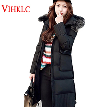 Winter Jacket Women 2016 Winter  Wear High Quality Parkas Winter Jackets Outwear Women Long  thick warm 3 colors Coats  A192