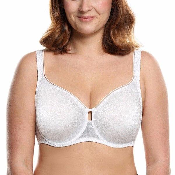 Suuremates suurustes must ja valge rinnahoidja