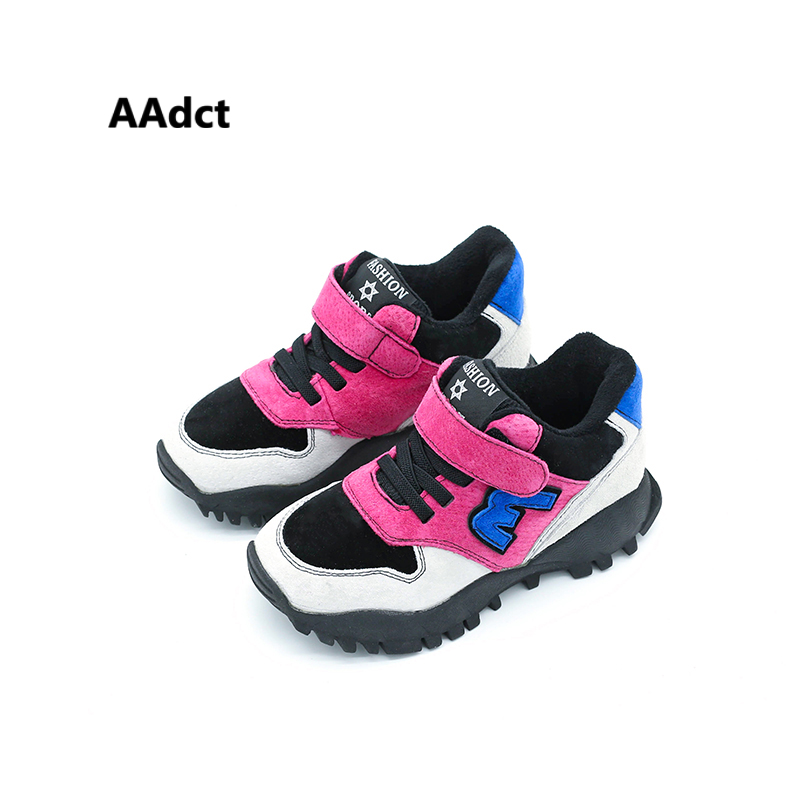AAdct 2018 new fashion girls shoes autumn winter cotton boys shoes running sports Brand High-quality sneakers <br>