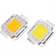Hot Sale High Power 10W 20W 30W 50W 70W 80W 100W Super Bright COB Spot LED Lamp Chips Light Bulb White Warm White 2 Colors(China)