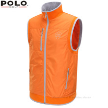 Brand POLO Golf Men Warm Vest Thick Velvet Golf Jackets for Men Winter Polyester Waistcoat Windbreaker Vest Breathable Apparel(China)