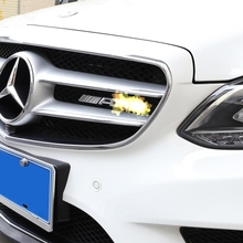 Car Logo 3D AMG Badge Stickers for Mercedes Benz Head Grill Trunk Rear Decal W203 W210 W211 AMG W204 A C E S CLS CLK Car Styling