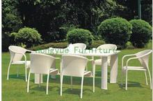 Outdoot new pe rattan dining set furniture supplier(China)