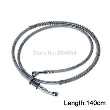 "140cm/55"" Universal Brake Oil Hose Line Banjo Fitting Stainless Steel Braided(China)"
