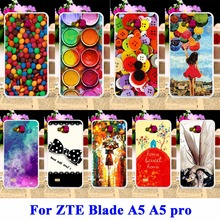AKABEILA Silicon Covers For ZTE Blade AF3 A3/ZTE Blade A5 A5 pro Cases AF 3 C341 T221 Paintbox Chocolate Candies Balloon Girl