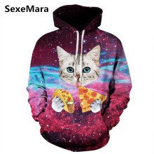 New Men Women Unisex 3D Hoodies Funny Print Animal Cat Sweatshirt Hip Hop Hoody Women Hoodies Plus Size S-3XL