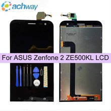 Black 100% Test For ASUS Zenfone 2 Laser ZE500KL LCD Display Touch Screen with Frame For ASUS ZE500KL Display ZE500KG Z00ED(China)