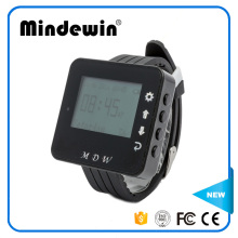Mindewin New Type Restaurant Waiter Buzzer Wrist Watch Pager Watches for Nurse Calling Bell Wireless Pager Role Watch