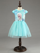 2017 New Elsa Anna Dress Girls Dress Cosplay Party Dresses Princess Children Baby Kids Baby Vestidos toddler Dresses(China)