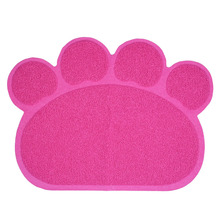 Colorful Paw Shape Pet Dog Puppy Cat Feeding Mat Pad Cute PVC Bed Dish Bowl Food Water Feed Placemat Wipe Clean Pet Supplies(China)