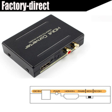 Free shipping 1PCS  HDMI audio extractor splitter SPDIF+stereo audio out supports full HD1080p