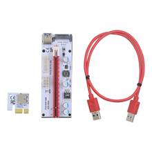 CHIPAL VER008S 3in1 Molex Power 60CM PCI-E Riser Card 4pin 6pin Sata PCI Express 1x to 16x 1x Extension Cable for Bitcoin Miner(China)
