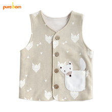 Pureborn Baby Vest Coat Baby Boy Clothes Cotton Kids Girl Jacket Vest Waistcoat Children Sleeveless Jacket Coats Kids Fall 2017