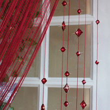 1*2.8m Hot Sale Romantic Beads Design Beaded Crystal Curtain String Door Window Curtain Divider partition Tassel Decoration