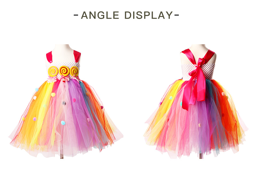 Lollipop Candy Girls Tutu Dress Kids Rainbow Birthday Party Dress Children Sweet Candy Land Outfit Girls Dance Recital Gown (14)