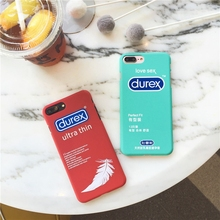 Funny Durex Okamoto Condom Printed Plastic Hard Case for iPhone 7 7plus 6 6s 6plus 5 5s SE Matte Surface Back Case Funda(China)