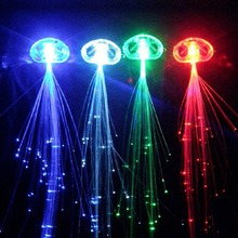 Colorful Flash LED Braid Hairpin Novelty Decoration Festive Supplies For Dance Christmas Party
