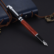 Fountain Pen Writing Rose Wood 0.5mm Nib Removable Ink Refill Converter Signature Calligraphy Classic Executive Business Gift(China)