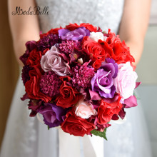 Buy Bouquet De Mariage Red Artificial Beach Bridal Bouquet Vintage Wedding Bouquets Brides Bridesmaid Flower Brooch Bouquet 2016 for $39.52 in AliExpress store