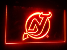 b-112 New Jersey Devils Hockey beer bar pub club 3d signs LED Neon Light Sign  home decor crafts