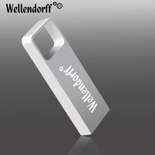 Newest High Quality silver Metal usb Key Micro Drive USB Flash Drive 1GB 4GB 8GB 16GB 32GB 64GB real memory stick usb pen key(China)