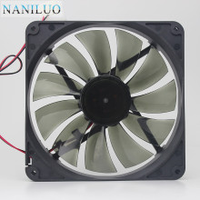 NANILUO high quality Best silent quiet 140mm pc case cooling fans 14cm DC 12V 4D plug computer coolers 14025 fan