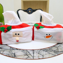 Merry Christmas tissue box cover Christmas santa claus home decoration Creative napkin holder xmas party supplies