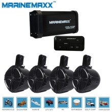 "Audio Amplifier Bluetooth Waterproof Marine USB  Amplifier 500 Watts +6.5"" Marine Tower Speakers Boat Off-Road ATV UTV  RZR"