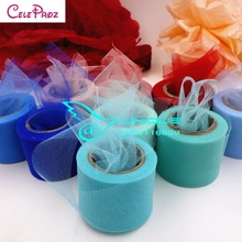 5cm Tulle Mesh Roll 25Yards Organza Ribbon Roll Giftbox Wrap Ribbon Wedding Decoration Table Runner 22.8Meters(China)