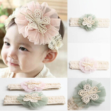Hot Sale Cute Kids Girl Kid  Headband Lace Flower Hairband 4 Colors Drop Shipping  1Pcs/Lot  A065