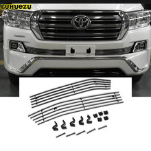 Stainless Steel Front Bumper Grille Cover For Toyota Land Cruiser 200 Accessories 2012-2017